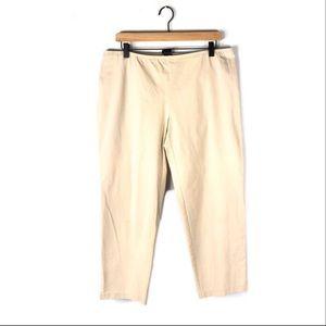 Eileen Fisher PL pants elastic waist ankle slit